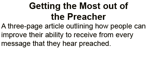 Getting_the_Most_Out_of_the_Preacher
